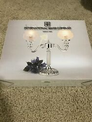 International Silver Co Victorian Lace Double Lamp $55.00