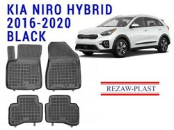 All Weather Floor Mats Floor Set For Kia Niro Hybrid 2016 2020 Custom Fit $74.99