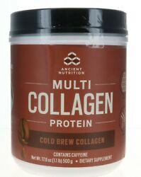 Ancient Nutrition Dr. Axe Multi Collagen Protein Cold Brew Collagen  40 Servings