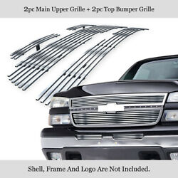 Fits 2006 Chevy Silverado 150005-06 2500HD Stainless Billet Grille Insert Combo