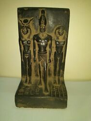 RARE ANTIQUE ANCIENT EGYPTIAN Statue Egypt Osiris and Nephtys and Isis 1375 Bc
