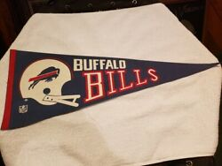 VINTAGE 1960's Buffalo Bills Full Size 29 Inch Gold Pennant VERY NICE! $24.99