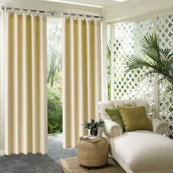 50x84quot;Beige Outdoor Indoor Privacy Blackout UV Protect Waterproof Heavy Curtains $22.49