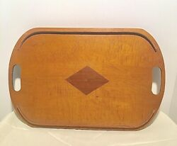 AntiqueVintage Wooden Butlers Tea Serving Tray 1939 Stamped W.L. Tabb Patented