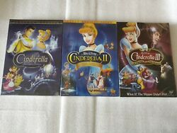 Cinderella Trilogy 1 2 3 DVD Movie Bundle USA Free Shipping!