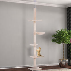 Cat Tree Scratching Post Kitty Tower Activity Center 5 Tier Floor to Ceiling GBP 45.99