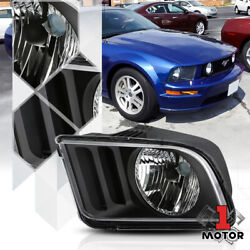 Left Driver Side Black Headlight Head Lamp Assembly for 05-09 Ford Mustang Pony $37.68