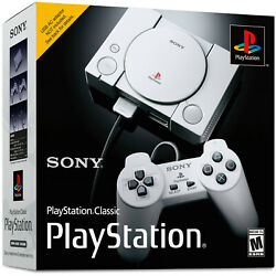 Sony PlayStation Classic 1 SCPH-1000R Mini Console 20 Games 2 Controllers PS1
