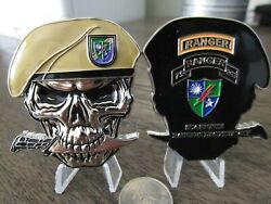 75th Ranger Regiment Army Rangers Lead The Way USASOC Beret Skull Challenge Coin