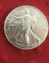 United States Mint 2016 1 Oz Fine Silver Eagle One Dollar From US Mint Case