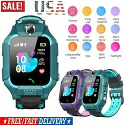 Anti-lost Safe GPS Tracker SOS Call Kids Smart Waterproof Watch For Android IOS