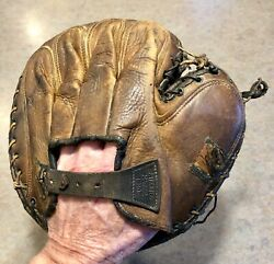Vintage 1910s Spalding Baseball Catchers Mitt PATENTED MAR. 22 1910 $99.99