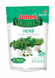 Jobe#x27;s Organics Fertilizer Spikes For Herbs 50 pk $11.99