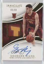 2016-17 Panini Immaculate Collection Collegiate99 #79 Georges Niang Auto Rookie