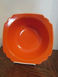 VINTAGE HOMER LAUGHLIN RIVIERA 8quot; RED SERVING BOWL $30.00