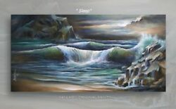 Seascape painting ART MODERN Contemporary DECOR Mix Lang certified original $1295.00