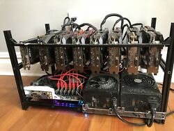 8 GPU Crypto Currency Mining Rig 240 MHs Ethereum Nvidia GTX 1070ti - Zcash ZEC