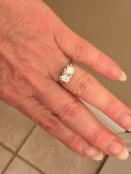 OLD EUROPEAN CUT DIAMOND MOI ET TOI DOUBLE COCKTAIL ENGAGEMENT RING