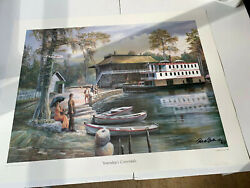 "Highwaymen Robert Butler Jr Limited Edition Print ""Yesterday's Crossroads Signed"