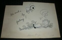 VALENTINES Boy amp; Bee Such a LOVEly Feeling 10x7quot; Greeting Card Art #261 $25.25