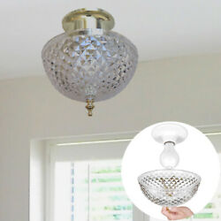 Evelots Ceiling Clip on Light Bulb Shade Lamp Dome Antique Diamond Cut Acrylic $22.99