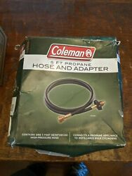 NEW Coleman5 Ft. High-Pressure Propane Hose and Adapter New 2000005062
