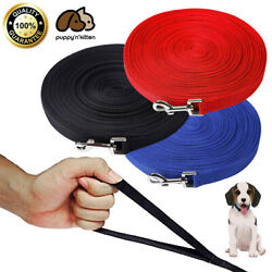 Dog Leash Long Obedience Recall Foot Feet Training Lead 6 15 23 33 50 100 FT $10.49