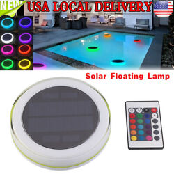 Solar Swimming Pool Lights Underwater Floating Fountain Show LED Multi Color $30.95
