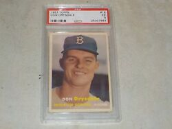 1957 Topps Don Drysdale Rookie Card #18 Graded PSA 5 EX Dodgers Great Nice! B96