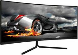VIOTEK GNV34CB 34quot; Ultrawide Curved Gaming Monitor 1080P 100Hz 21:9 Ultra Bright $299.99