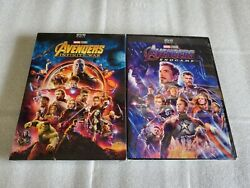 Avengers End Game and Avengers Infinity War 2-Movie DVD Bundle Brand New!