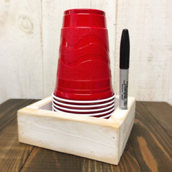 Rustic Wooden Solo Cup Holder