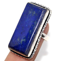 F12648 Lapis Lazuli 925 Sterling Silver Plated Ring Us 7