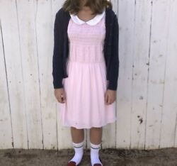 Eleven Pink Dress Plus Socks Stranger Things Small $25.00