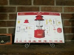 Coleman 200A Red Single Mantle Lantern Print Poster Parts Identification
