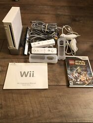 Nintendo Wii White Console Bundle With Game And Controllers