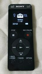 Sony Stereo Digital Voice Recorder wBuilt-in USB Black ICD-UX560 WORKS PERFECT