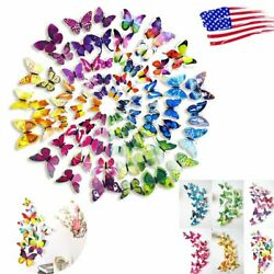 72 pieces 3D Wall Butterfly Art Design Mural Stickers Wall Home Room Decoration $7.57