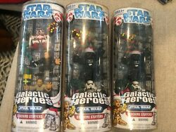 Star Wars Galactic Heroes Stocking Stuffer Pack Lot Of 3 Boba Fett Vader Skywalk
