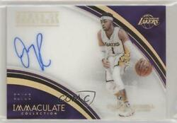 2016-17 Panini Immaculate Collection Marks of Greatness35 D'Angelo Russell Auto