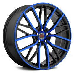 Revolution Racing RR07 Wheels 20x8 (40 5x114.3 73.1) Black Rims Set of 4