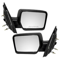 Pair Set Power Side Mirrors Pedestal Type Textured for 04-08 Ford F-150 Pickup $81.00