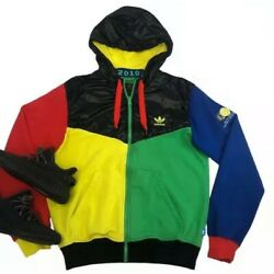 Adidas South Africa 2010 World Cup Soccer Hoodie Jacket FIFA Football Colorblock