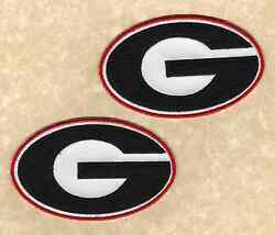🏈 Lot of 2-UNIVERSITY OF GEORGIA BULLDOGS UGA Team logo Iron-on Jersey PATCHES!