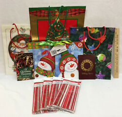 Christmas Gift Bags amp; Party Sacks Variety Holiday Planner amp; Book Lot of 11 $10.44