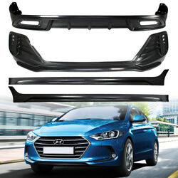 For Hyundai AD Trunk Body Kits - Front Bumper+Rear Diffuser+Side Skirt+LED Light