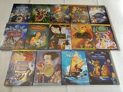 Disney Princess Movie DVD Bundle! Moana Aladdin Cinderella Tangled Frozen Alice