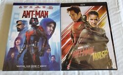 Ant Man 1 and Ant Man 2 DVD Ant Man and the Wasp Marvel Movie  Free Shipping!
