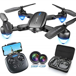 Zuhafa T4 Foldable Drone with 1080P HD CameraWiFi FPV RC Drone with Camera Live $101.85