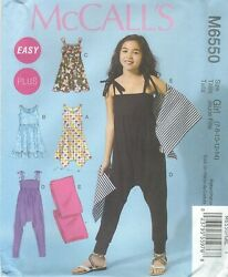 McCall#x27;s 6550 Girls#x27; Girls#x27; Plus Dresses Jumpsuit and Wrap Sewing Pattern $6.99